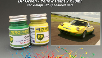 BP Green and Yellow Paints - 2x30ml - Zero Paints