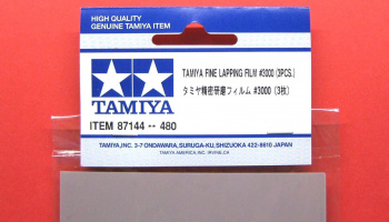 Fine Lapping Film #3000 3pcs - Tamiya