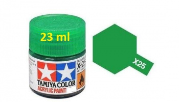 X-25 Clear Green Acrylic Paint 23ml X25 - Tamiya