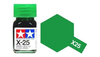 X-25 Clear Green Enamel Paint X25 - Tamiya