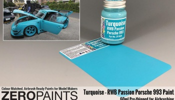 RWB Rauh Passion Porsche 993 Turquoise Paint 60ml - Zero Paints