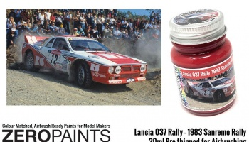 Lancia 037 Rally '1983 Sanremo Rally' Red Paint 30ml - Zero Paints