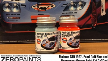 Mclaren F1 GTR 1997 - Pearl Gulf Blue and Fluorescent Orange Paint Set 2x30ml - Zero Paints