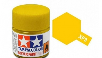 XF-3 Flat Yellow Acrylic Paint Mini XF3 - Tamiya