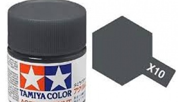 X-10 Gun Metal Acrylic Paint Mini X10 - Tamiya