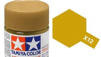X-12  Gold Leaf Acrylic Paint Mini X12 - Tamiya