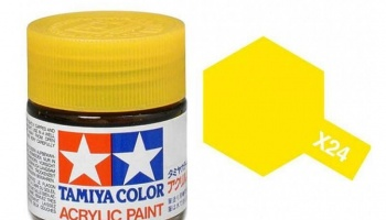 X-24 Clear Yellow Acrylic Paint Mini X24 - Tamiya