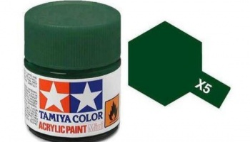 X-5  Green Acrylic Paint Mini X5 - Tamiya