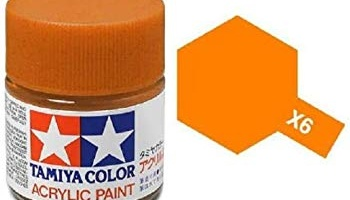 X-6 Orange Acrylic Paint Mini X6 - Tamiya