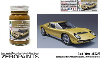Lamborghini Miura P400 SV Full Restoration Orca (Gold) Paint 60ml - Zero Paints