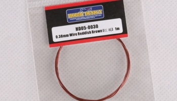 0.38mm Wire(Reddish Brown)1m - Hobby Design