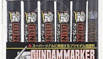 GUNDAM MARKER GMS105 Basic COLOR PEN SET 6pcs - GUNZE
