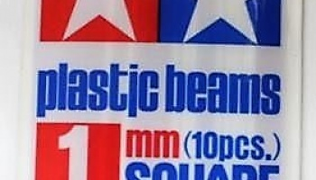 Plastic Beams Square 1mm - Tamiya