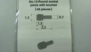 Metal Rivet No.10 Round Socket Joints With Knurled-L -  Model Factory Hiro