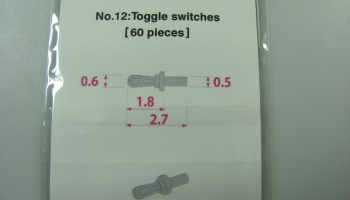 Metal Rivet No.12 Toggle Switches - Model Factory Hiro