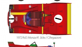Ferrari 312PB Full Detail Kit 1/12 - Model Factory Hiro