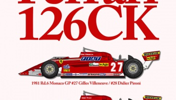 PRE-ORDER Ferrari 126CK Fulldetail Kit 1/12 - Model Factory Hiro