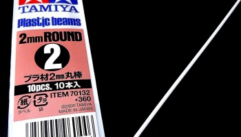 Plastic Beams Round 2mm - Tamiya