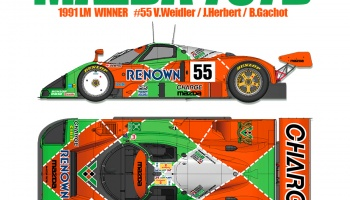 PRE-ORDER MAZDA 787B Full Detail Kit 1/12- Model Factory Hiro