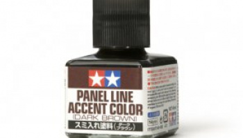 Panel Line Accent Color Dark Brown 40ml - Tamiya
