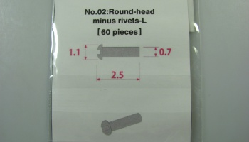 Metal Rivet No.2 Round Head Minus Rivets-L - Model Factory Hiro