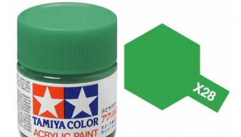 X-28 Park Green Acrylic Paint Mini X28 - Tamiya