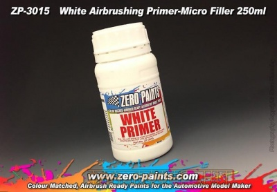 Airbrushing White Primer/Micro Filler (250ml) - Zero Paints