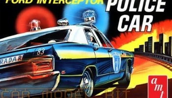 Ford Galaxie Interceptor Police Car 1970 - AMT