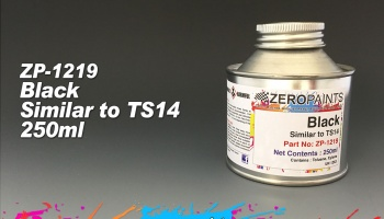 Black Paint - Similar to TS14 (250ml) - Zero Paints