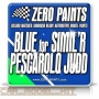 Blue Paint for Simil'R Pescarolo Judd 2011 - Zero Paints