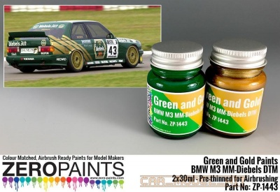 BMW M3 MM-Diebels DTM - Green and Gold Paint Set 2x30ml - Zero Paints