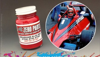 Brabham Alfa Red Paint - BT45B, BT46, BT46B BT48 etc - Zero Paints