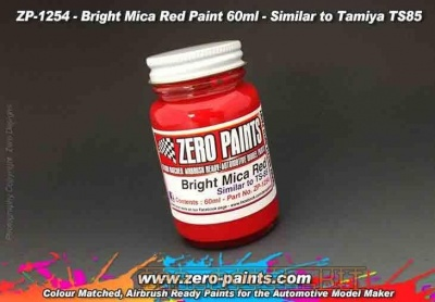 Bright Mica Red Paint - Similar to Tamiya TS85 - Zero Paints