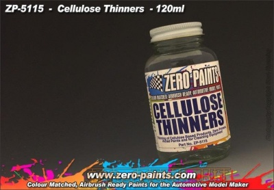 Cellulose Thinners 120ml - Zero Paints