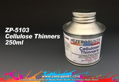 Cellulose Thinners 250ml - Zero Paints