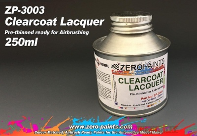 Clear Coat Lacquer 250ml (Pre-Thinned) - Zero Paints
