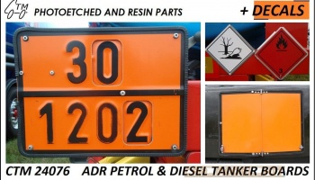 ADR Petrol & Diesel Tanker Boards - Czech Truck Model