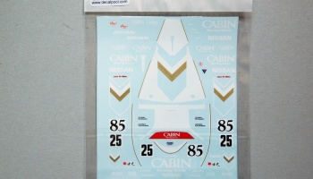 Nissan R90V Cabin 90' LeMans Decal for Tamiya Nissan 89C - Decalpool