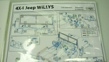 Willys MB Jeep Conversion set (for Tamiya) - KA-Models