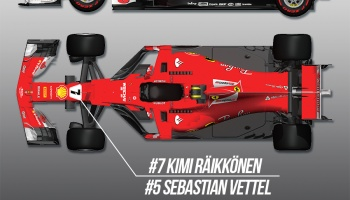 Ferrari SF70H 1/12 Proportion Kit - Model Factory Hiro