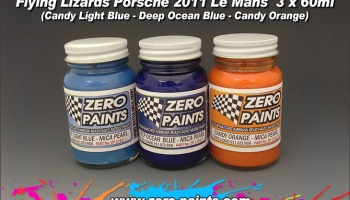 Flying Lizard Porsche 2011 Paints 3x30ml - ZERO Paints