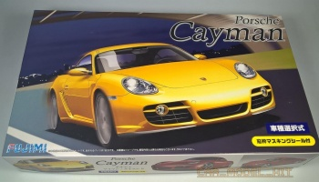 Porsche Cayman S with Window Frame Masking Stickers - Fujimi