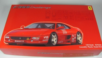 Ferrari F355 Challenge with Window Frame Masking Stickers - Fujimi