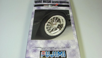 17 inch Wire Mesh Wheels & Tires Silver Narrow - Fujimi