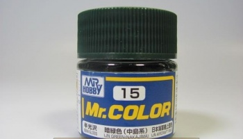 Mr. Color C 015 - IJN Green (Nakajima) - IJN Zelená - Gunze