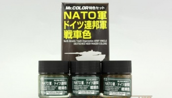 Mr. Color - NATO TANK COLOR - Tanky NATO sada barev 3x10ml - Gunze