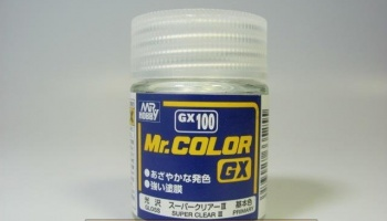 Mr. Color GX 100 - Super Clear III - Super lesklý lak III (18ml) - Gunze