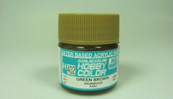Hobby Color H 402 - Green Brown - Zeleno hnědá - Gunze