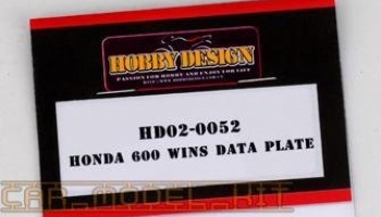 HONDA 600 WINS DATA PLATE - Hobby Design