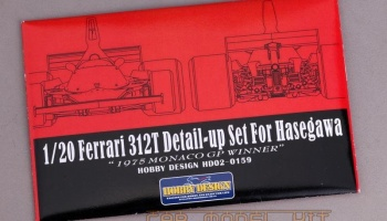 "FERRARI 312T Detail-up Set For Hasegawa ""1975 Monaco GP Winner"" - Hobby Design"